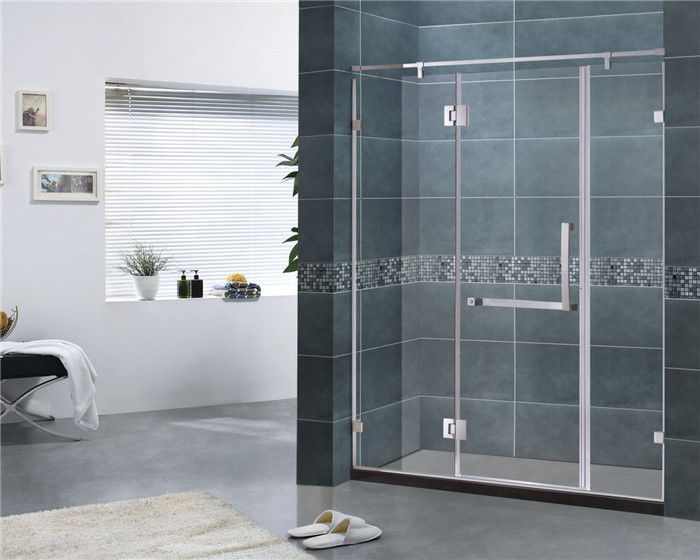 Customized 8MM Tempered Glass Shower Door 304 Stainless Steel Swing Hinge Bathroom