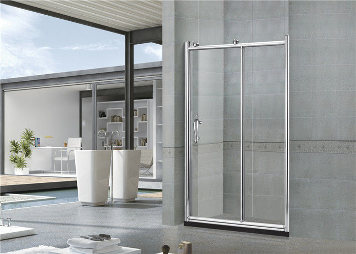 Big Copper Wheels Aluminum Shower Enclosures Tempered Glass 6 / 8 MM for Home / Apartment