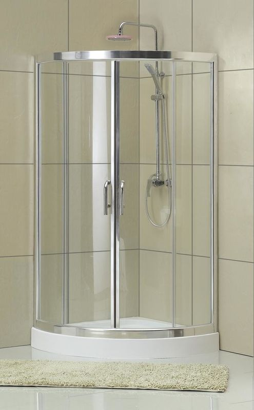 All Arc Transport Glass D Shaped Shower Cubicle 1900MM Height For Baths