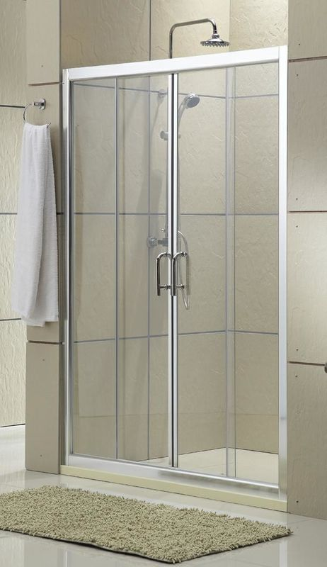 Clear Glass Shower Stall Sliding Glass Doors 1600x1900MM Screen CSI Certification