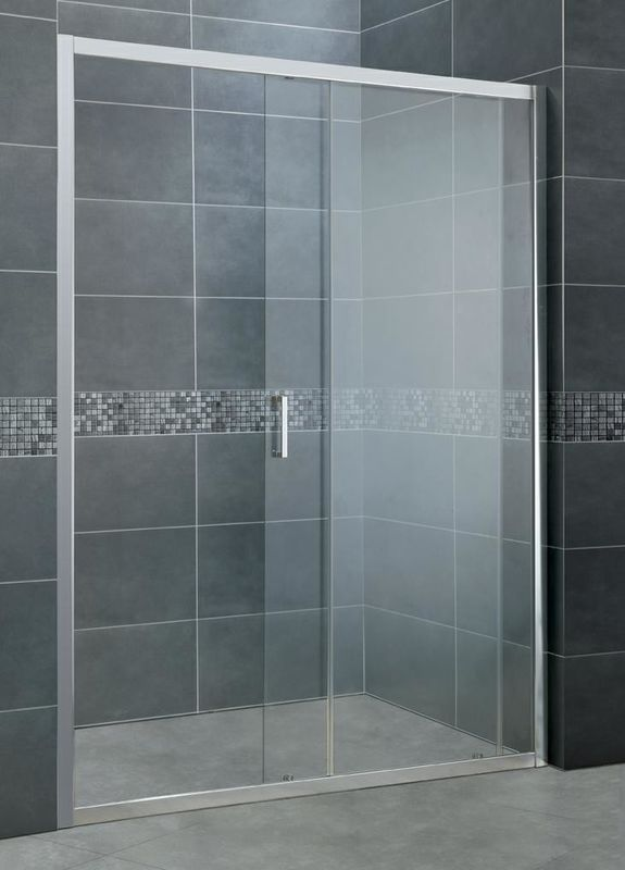 Without Wall Profiles Aluminum Shower Doors 2 CM Adujustment Width One side 6 MM Glass