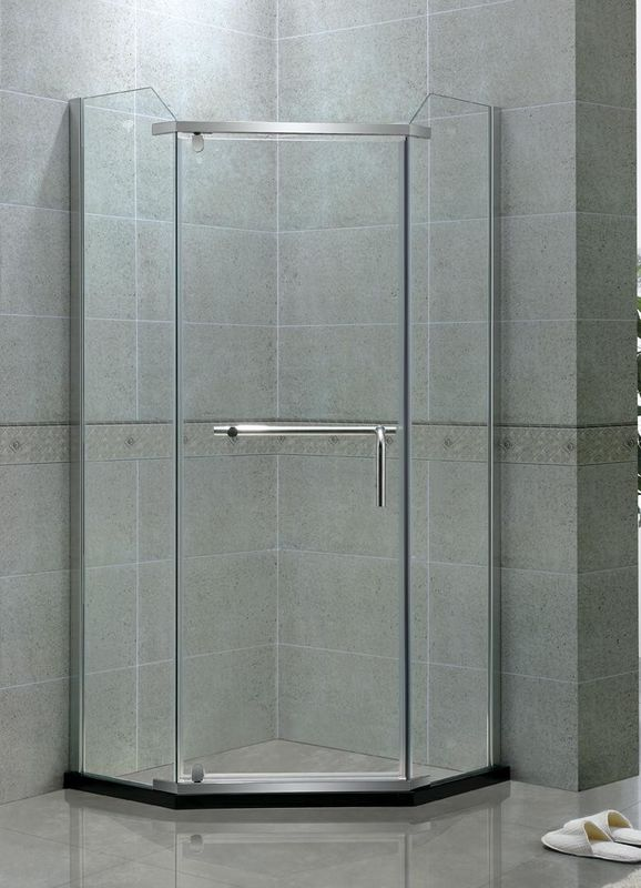 Diamond Shape Single Pivot Shower Doors / Shower Door Enclosures Stainless Steel Hinge