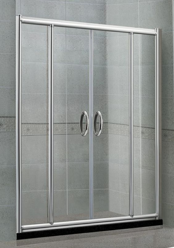 CE Certification Screen Sliding Shower Enclosures Sand Silver With Frame  6 MM Glass