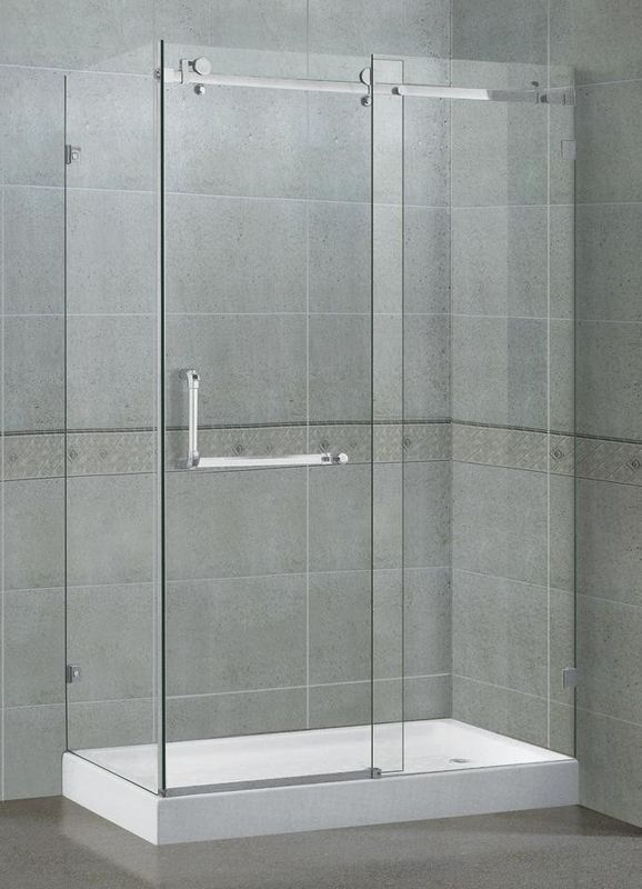 Frameless Rectangular Shower Enclosure 10MM Self - Cleaning CE Certification