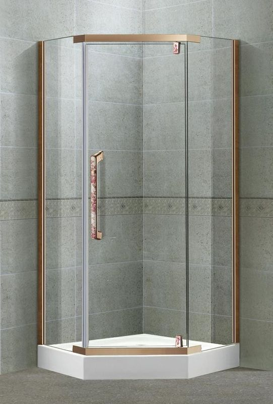 Self - Cleaning Tempered Glass Pivot Shower Doors With Full Stainless Steel