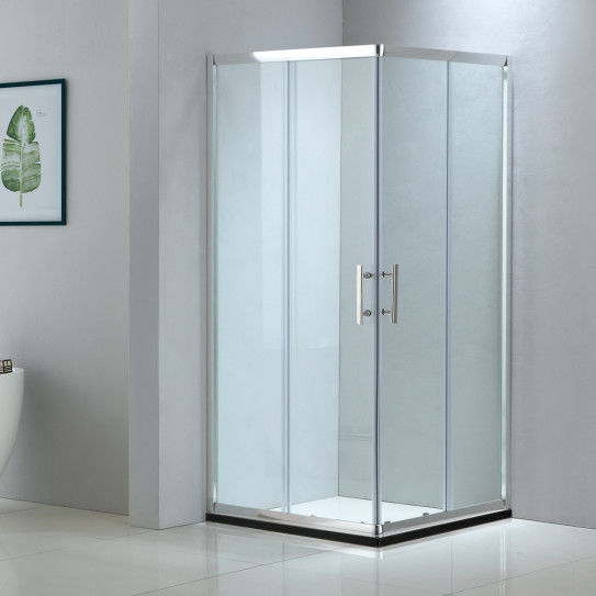 Square aluminium shower enclosure 900*900 with two sliding doors and two fixed panels